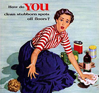 1950s floor cleaner ad.